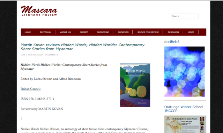 Mascara Literary Review – Hidden Words Hidden Worlds