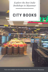 Bookshops - city books pin